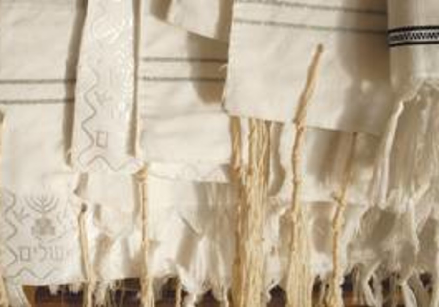 ON A TALLIT, the Hebrew word for 'corners' can also be translated as 'wings.'