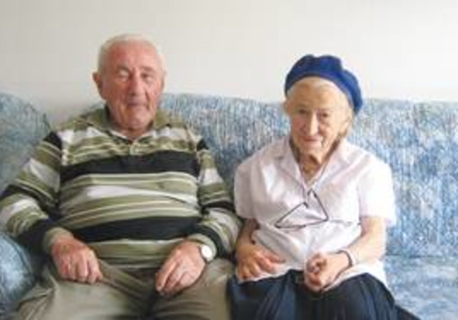 JOSEPH WITH the energetic, feisty Cecilia. They met at the pensioners' club.