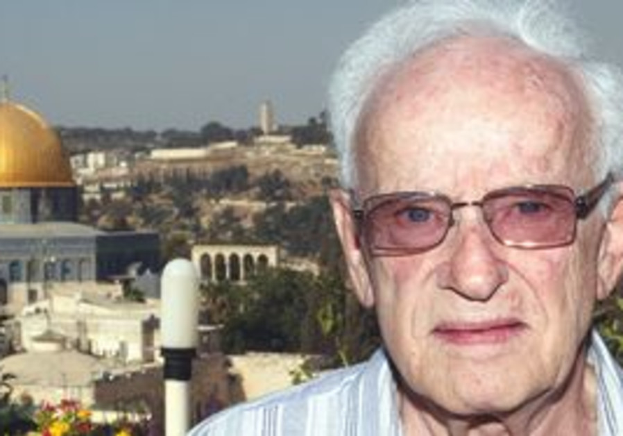 Prof. Zvi Eyal. 'As soon as I could, I came with my wife to Jerusalem and to the Old City.'