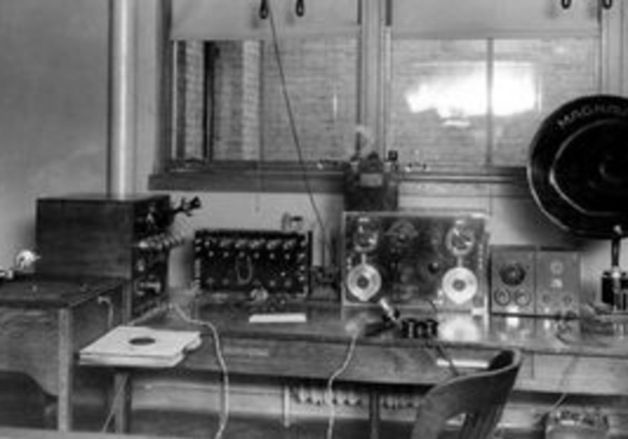 Early radio station.