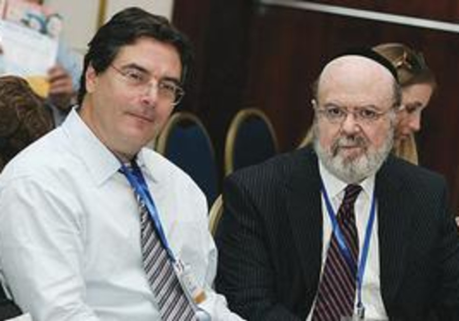 DR. ERIC HOLLANDER (left) has joined Rabbi Joshua Weinstein's mission to find a cure for autism.