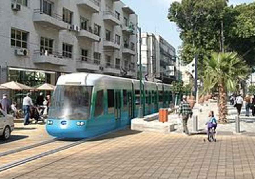 Tel Aviv Light Rail - Artists impression