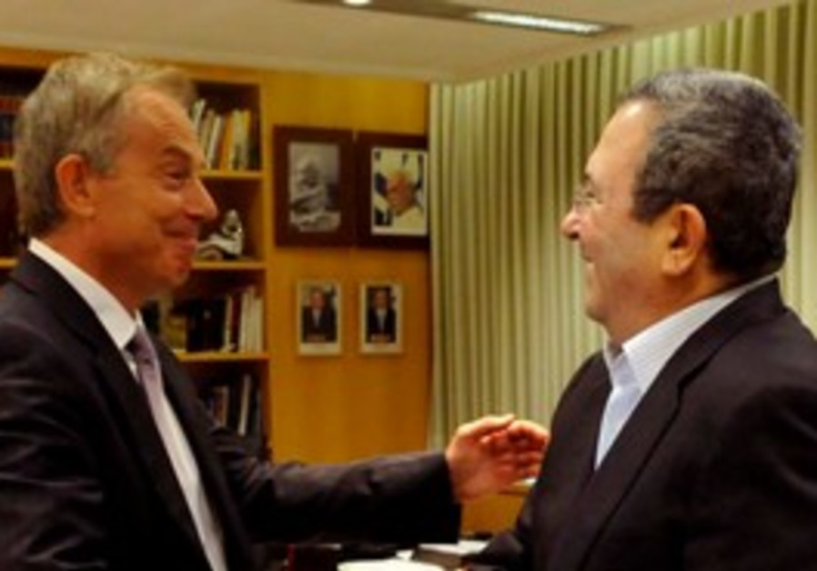 Ehud Barak and Tony Blair
