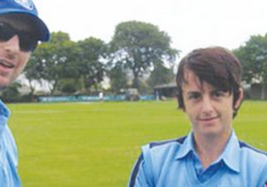 JOSH EVANS (right) – seen here receiving his cap for the Israeli national cricket team – will be a k