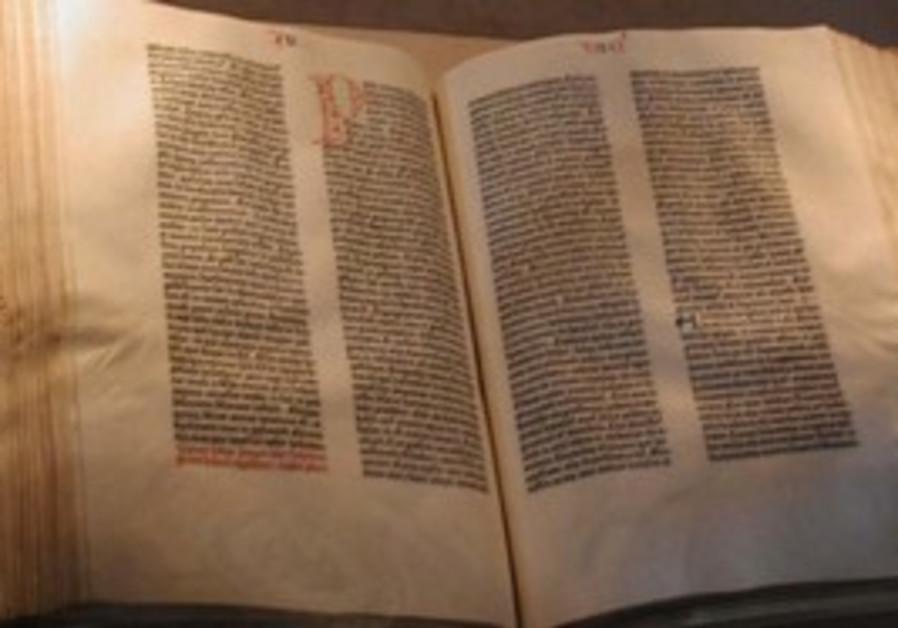 The Guttenberg Bible.
