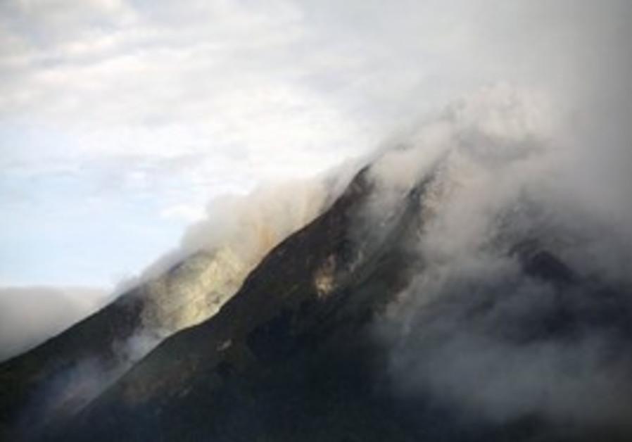 Mount Sinabung erupts in Indonesia.
