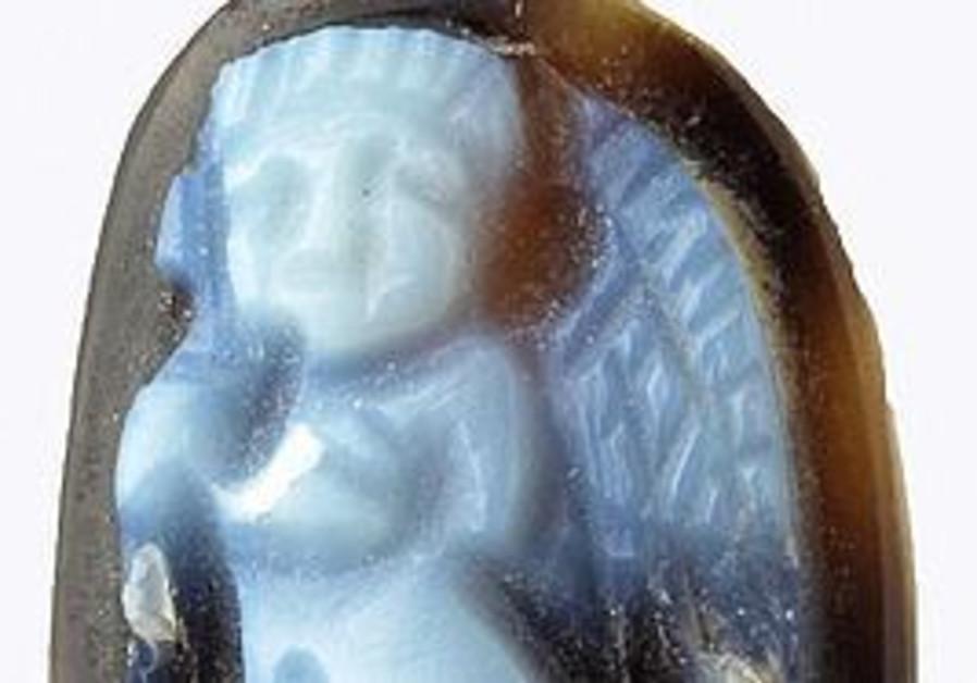 Cameo bearing image of cupid