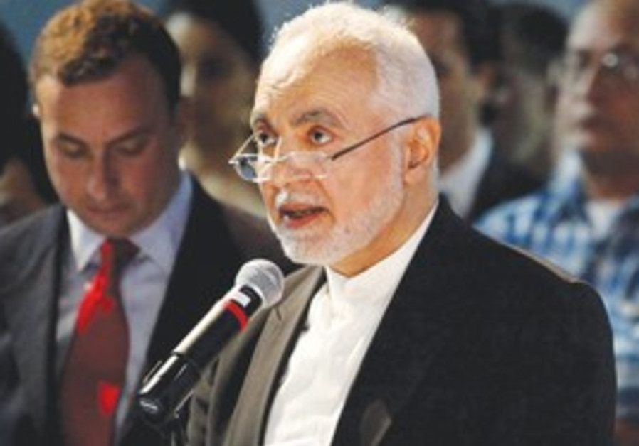 IN THIS May 25 photo, Imam Feisal Abdul Rauf, executive director of the Cordoba Initiative, addresse