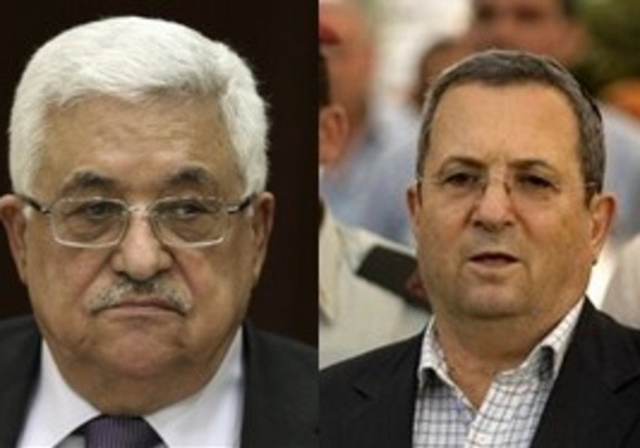 PA President Mahmoud Abbas and Defense Minister Ehud Barak
