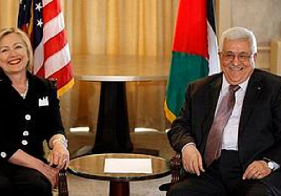 Hilary Clinton and Mahmoud Abbas