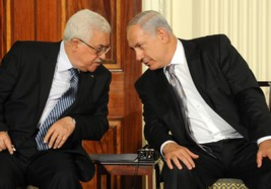 Prime Minister Netanyahu with PA chairman Abbas