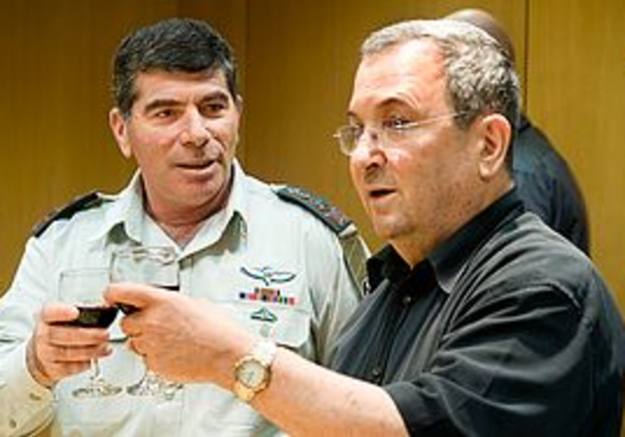Ehud Barak and Gabi Ashkenazi
