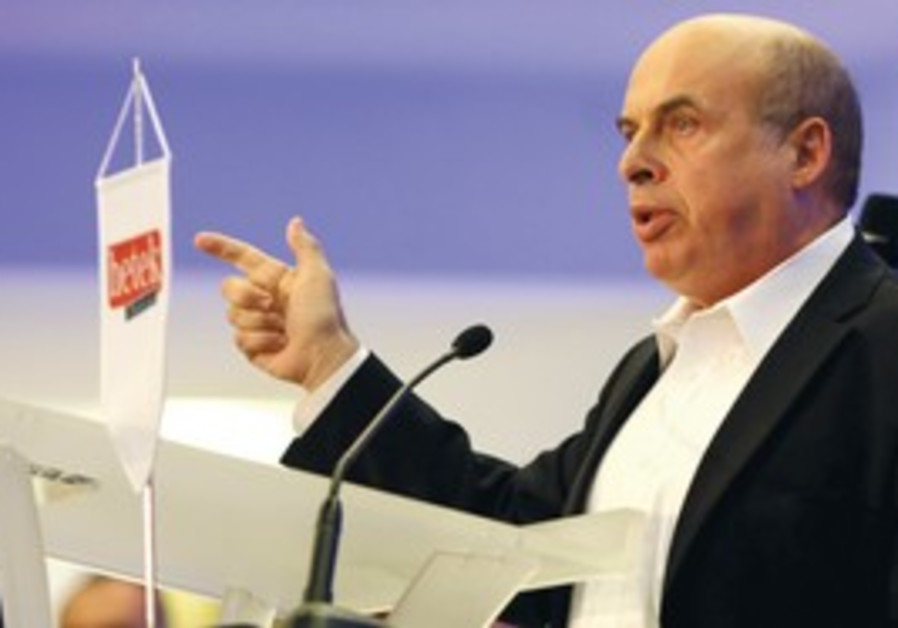 JEWISH AGENCY head Natan Sharansky addresses his a