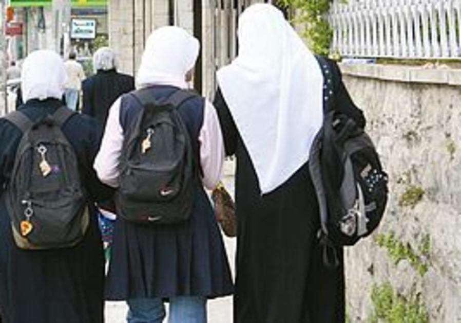 Women wearing hijab in Jerusalem