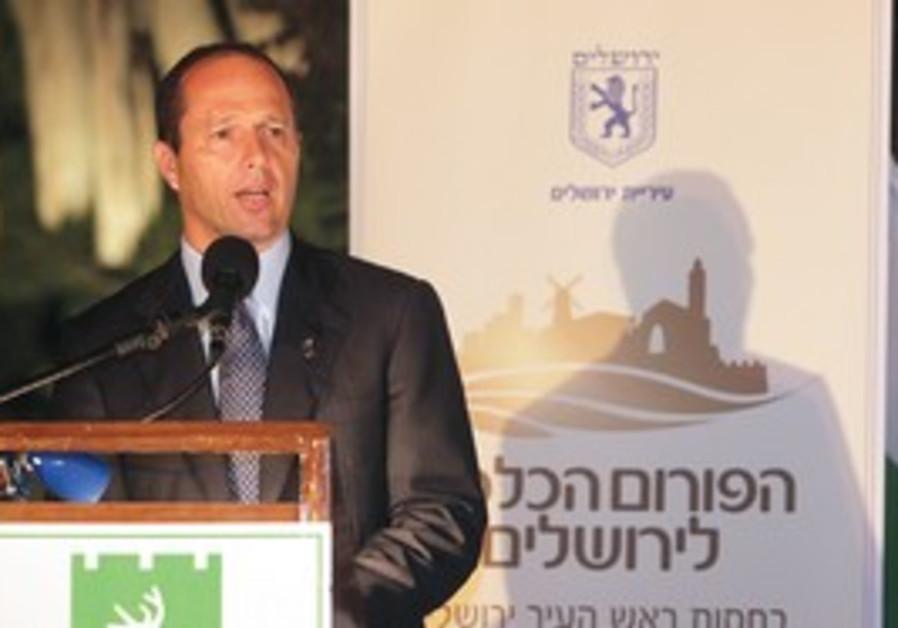 J'lem Mayor Nir Barkat at the J'lem Economic Forum