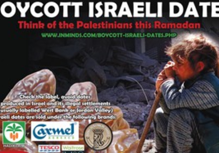 THE LATEST boycott effort targets Israeli dates