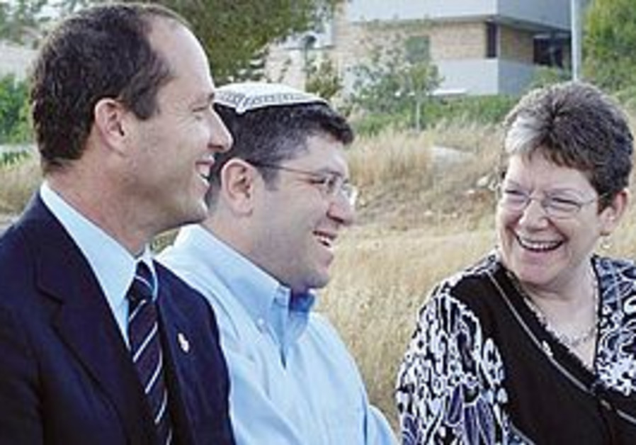 Mayor Nir Barkat, Rabbi Ian Pear and Naomi Tsur