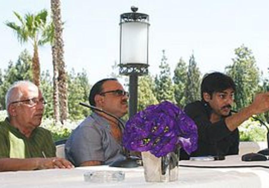 Bollywood star Pawan Kalyan (right)