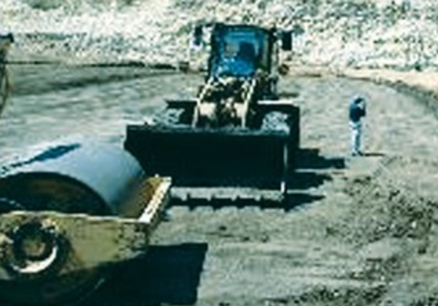 Diggers at quarry