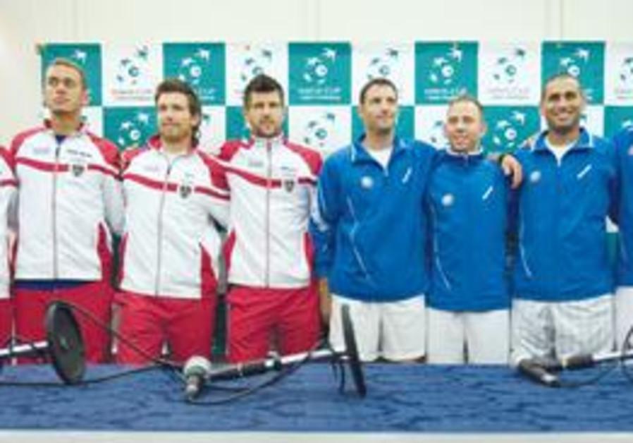Israel Davis Cup team members.