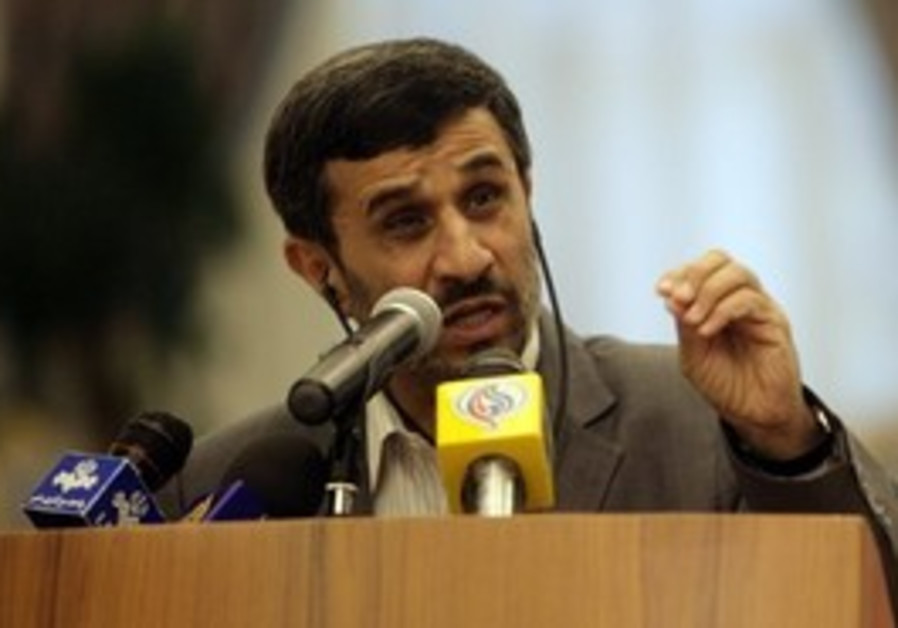 Ahmadinejad speaking to press