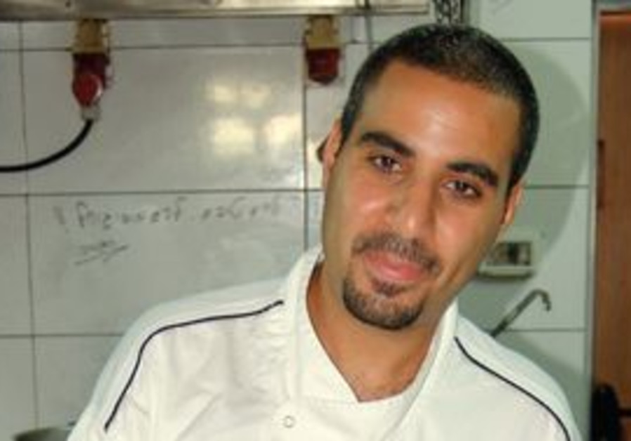 Jerusalem chef Lior Haftzadi in Lara's kitchen.