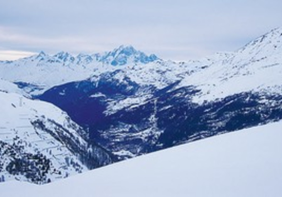 French-Switzerland alps