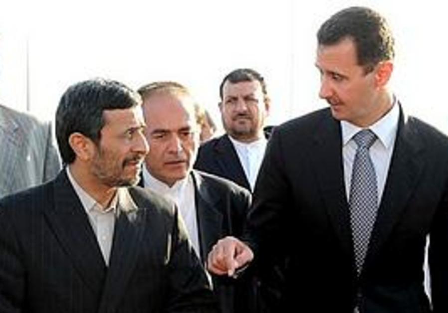 Ahmadinejad and Assad in Syria