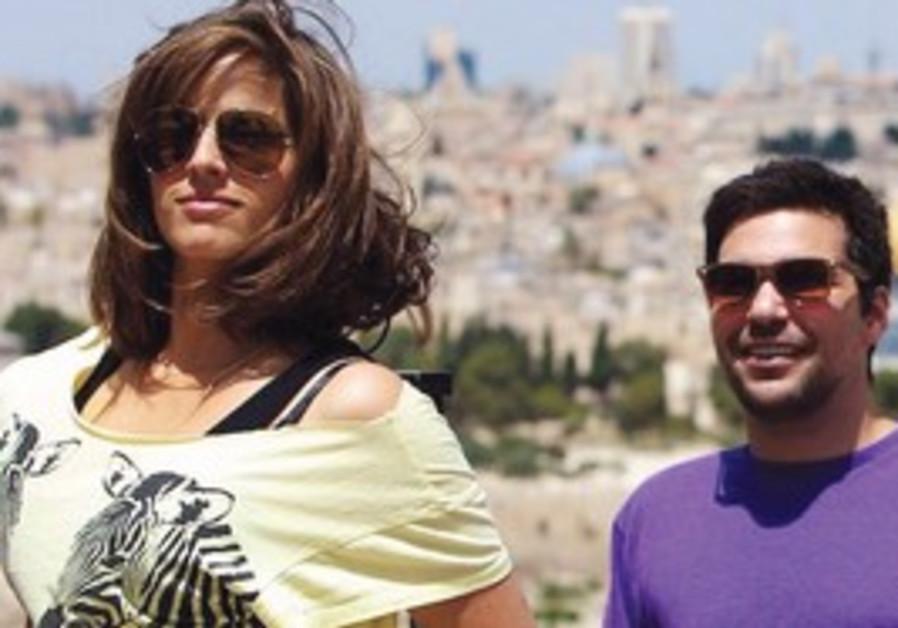 ACTRESS NOA TISHBY and nomad entrepreneur Jeff Ros