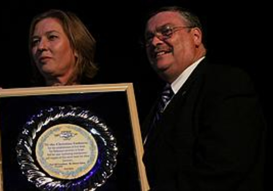 Tzipi Livni and Rev. Malcolm Hedding