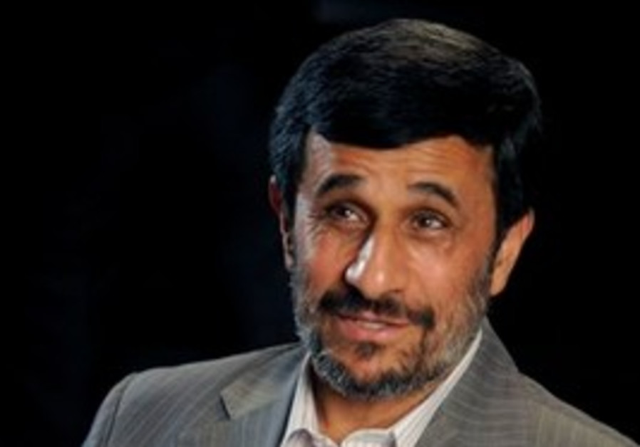 Iranian President Mahmoud Ahmadinejad is interview