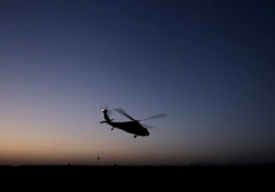 Afghan helicopter at night