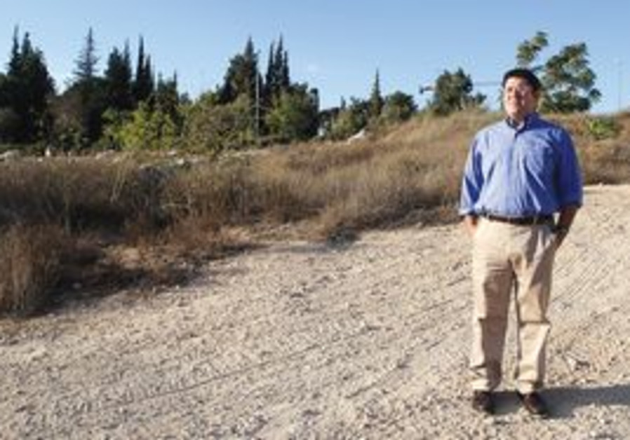 Rabbi Ian Pear at the site of the planned shul
