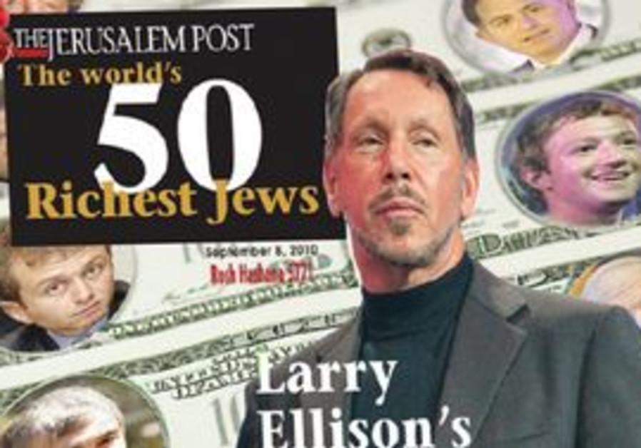 The Jerusalem Posts' 50 Richest Jews list