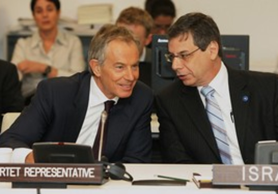 Deputy FM Danny Ayalon and Quartet Rep. Tony Blair