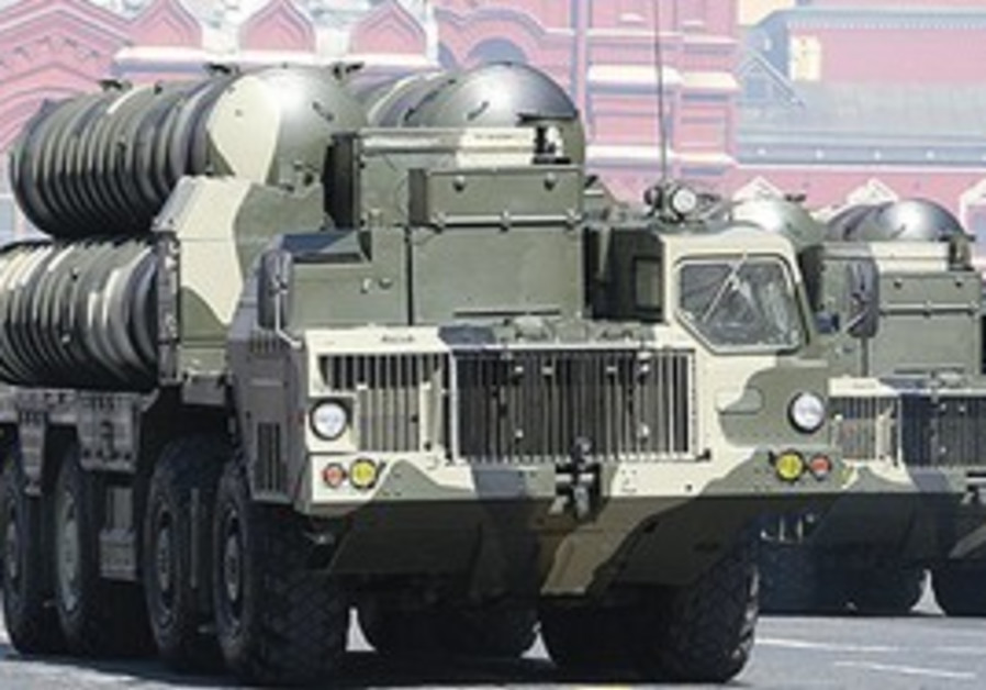 S-300 MISSILES on their launcher trucks.