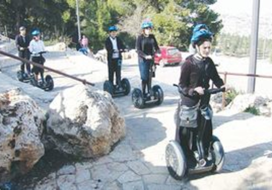 Segway riders in Jerusalem.