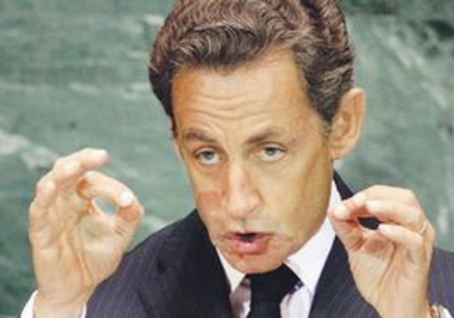 French President Sarkozy at the UN.