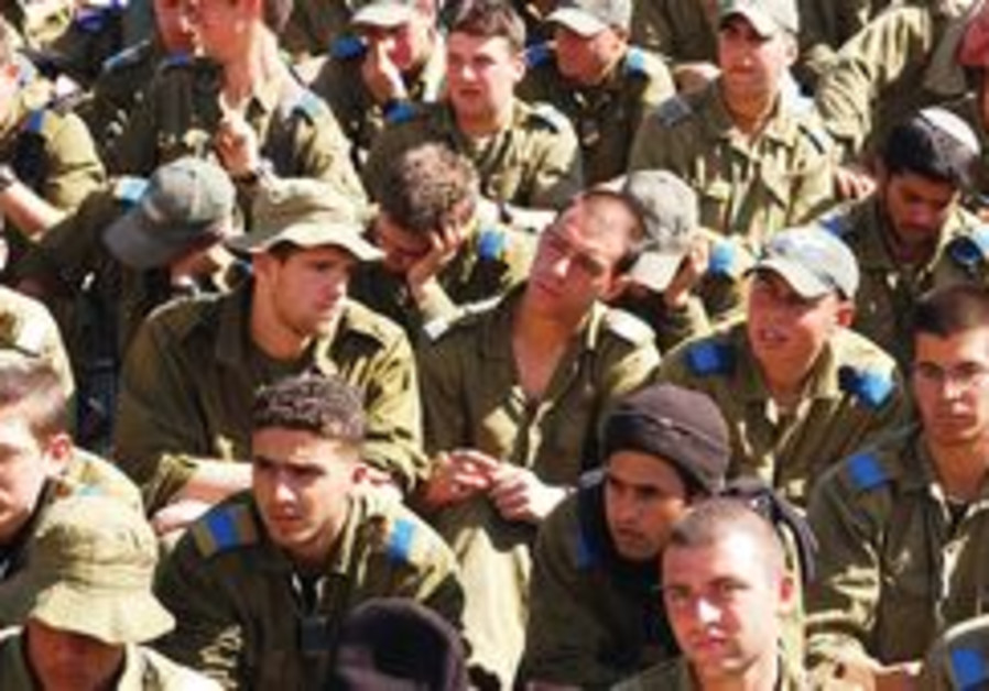 A group of newly-drafted IDF soldiers