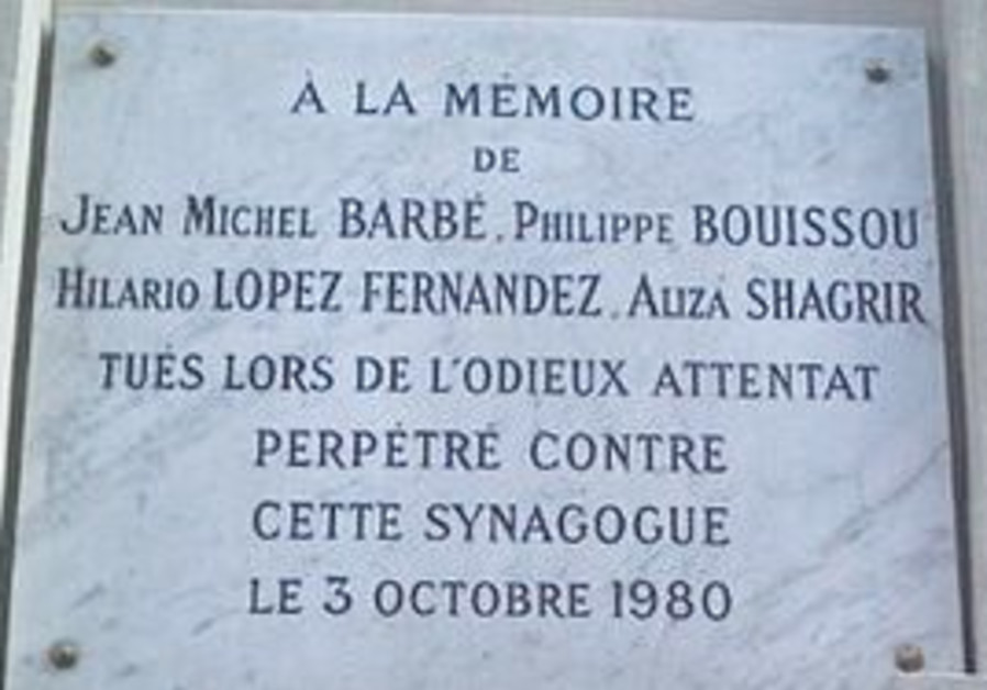 A plaque commemorating the victims of the attack