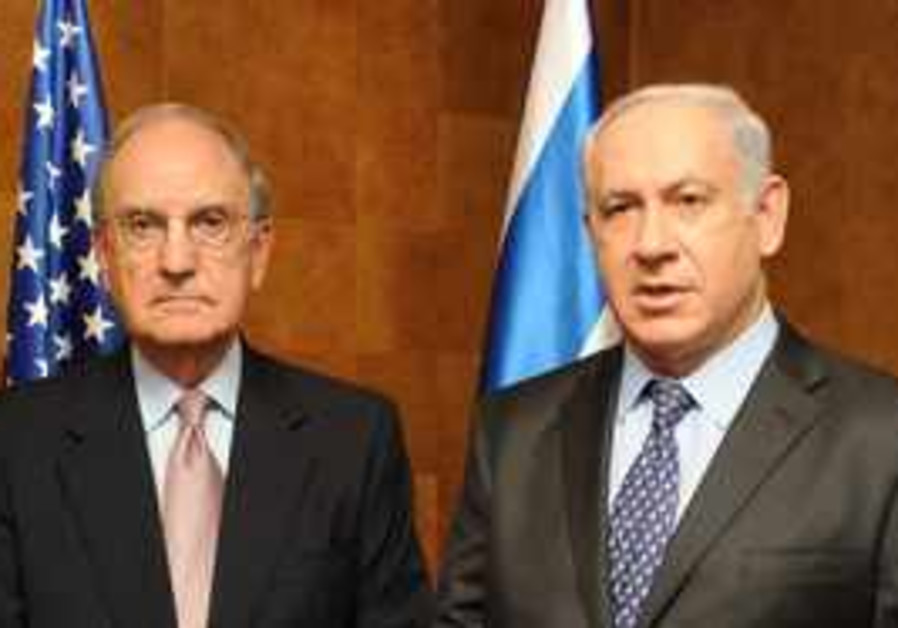 PM Netanyahu meets with Mitchell in Caesaria.