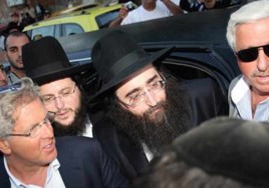 Rabbi Yehoshua Pinto and admirers