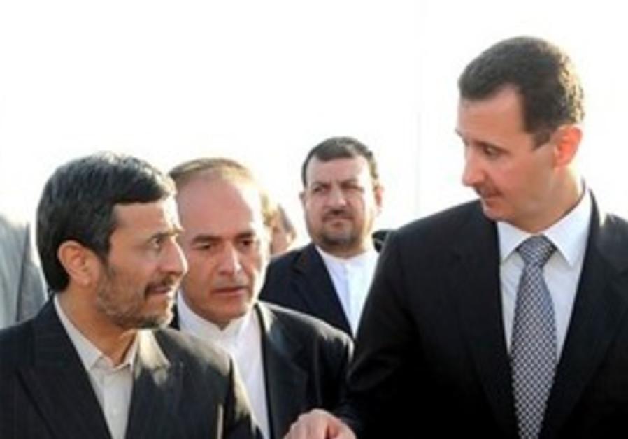 Bashar Assad and Mahmoud Ahmadinejad
