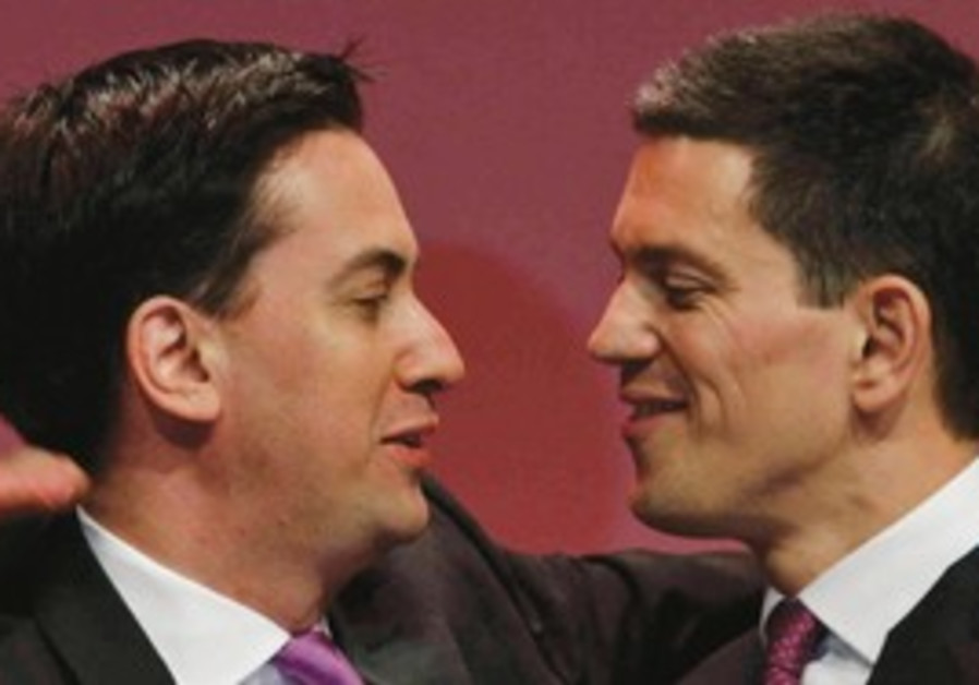 ED MILIBAND, left, the newly-elected leader of Bri