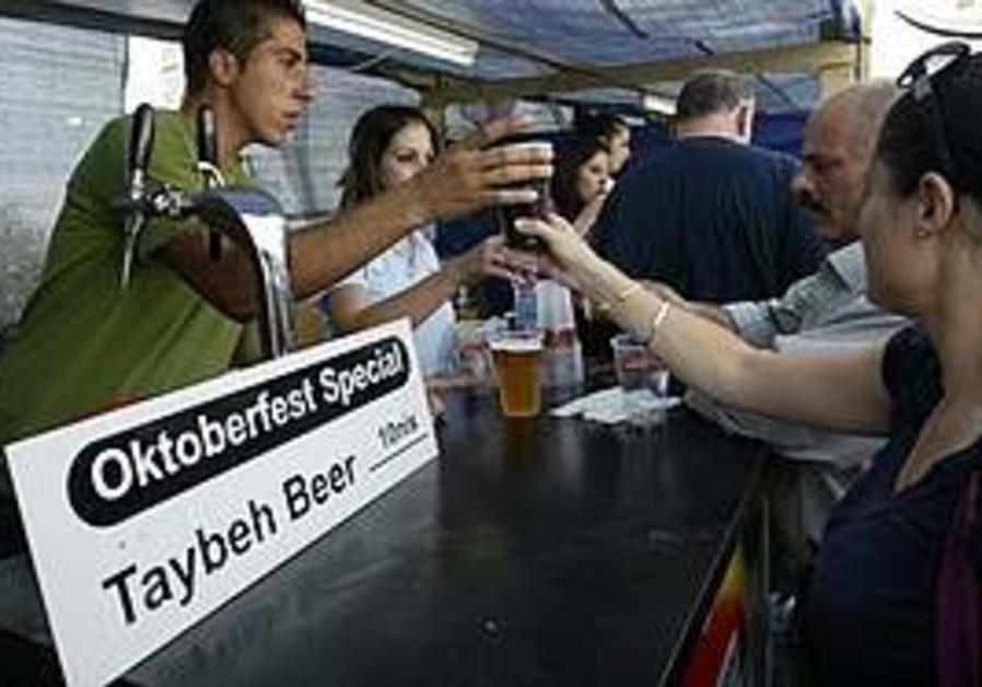 The Oktoberfest festival in Taybeh, near Ramallah