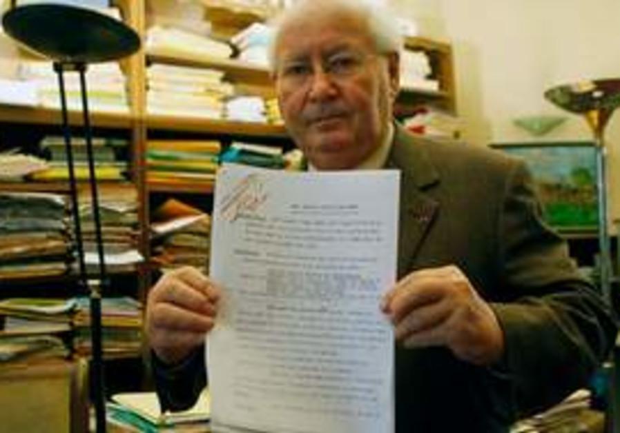 Famed French Holocaust historian Serge Klarsfeld