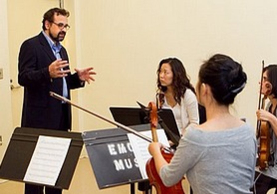 Francesco Lotoro with Emory University quartet.