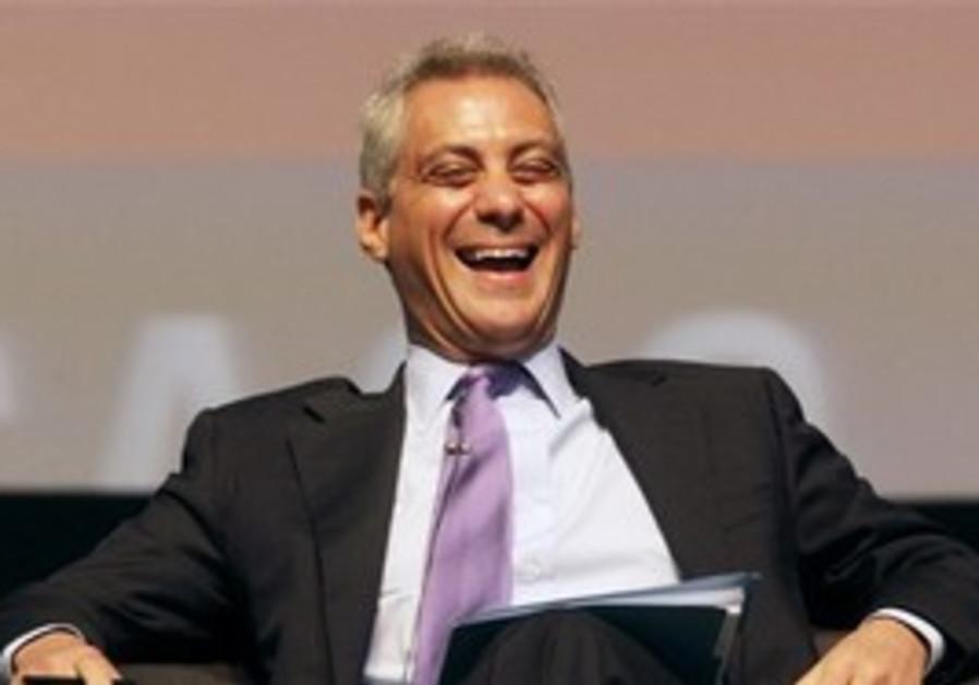 Rahm Emanuel laughing