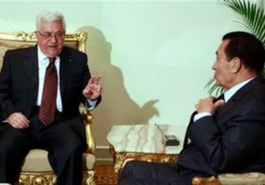 Abbas and Mubarak in Cairo