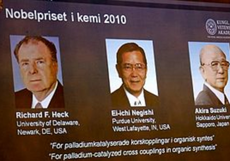 Nobel Prize winners for chemistry 2010